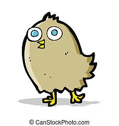 cartoon happy bird