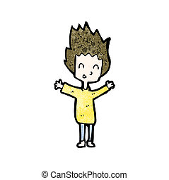cartoon happy boy