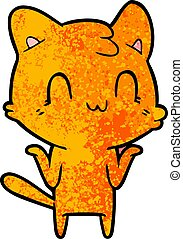 cartoon happy cat