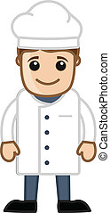 Cartoon Happy Chef Character