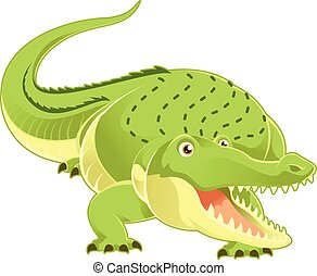 Cartoon happy Crocodile