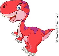 Cartoon happy dinosaur