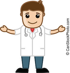 Cartoon Happy Doctor