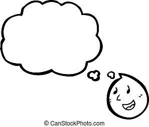 cartoon happy face symbol