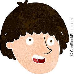 cartoon happy male face