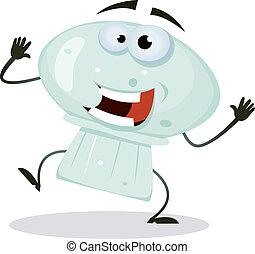 Cartoon Happy Mushroom Character