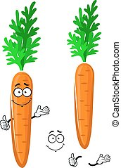 Cartoon happy orange carrot vegetable