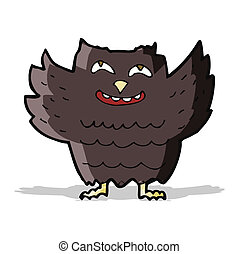 cartoon happy owl