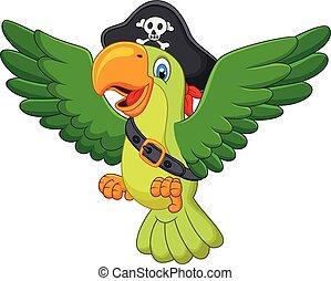 Cartoon happy parrots - Vector illustration of Cartoon happy...