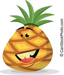 Cartoon Happy Pineapple Character