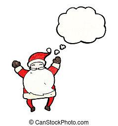cartoon happy santa
