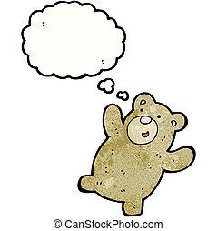 cartoon happy teddy bear