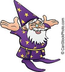 Cartoon Happy Wizard