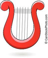 Cartoon Harp Icon