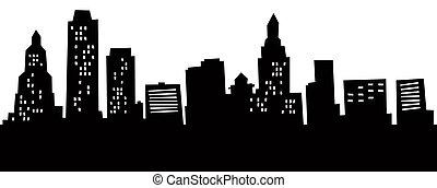 Cartoon Hartford Skyline