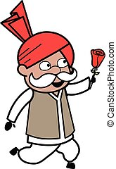 Cartoon Haryanvi Old Man Proposing