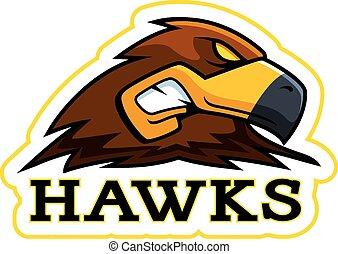 Cartoon Hawk Mascot
