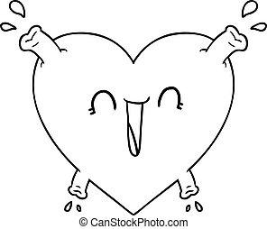 cartoon healthy heart