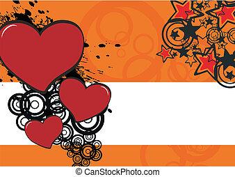 cartoon heart background8 - cartoon heart background in...