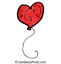 cartoon heart balloon