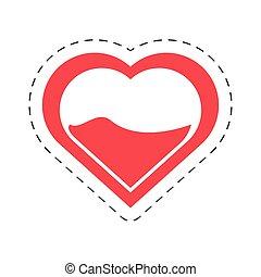 cartoon heart blood donation symbol