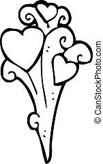 cartoon heart decorative element