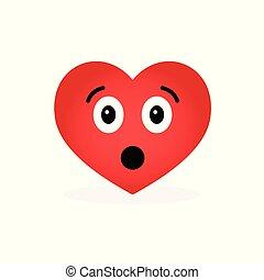 Funny laughing heart emoticon  emotional icon  happy emoji