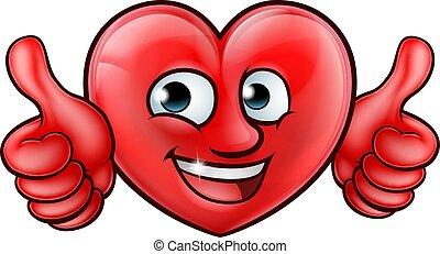 Cartoon Heart Mascot