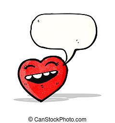 cartoon heart with speech bubble