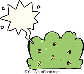cartoon hedge and speech bubble - cartoon hedge with speech ...