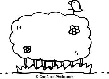 cartoon hedgerow