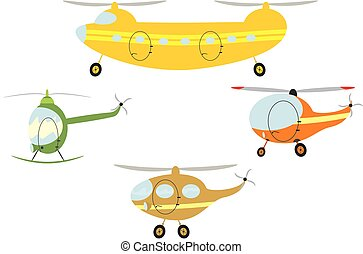 Cartoon helicopters