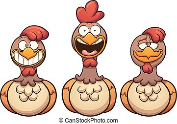 Cartoon hens