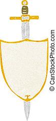 cartoon heraldic shield