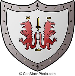 cartoon heraldic shield