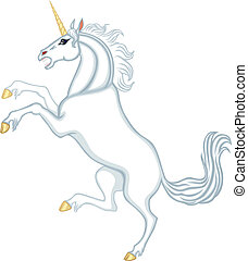 Cartoon heraldic unicorn