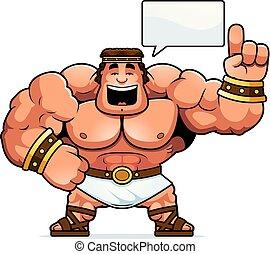 Cartoon Hercules Talking