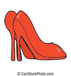cartoon high heel shoes