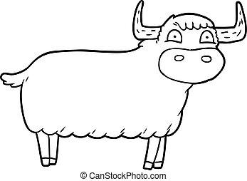 cartoon highland cow