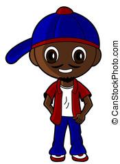Cartoon hip hopper - Illustration of a hip hop guy drawn in...