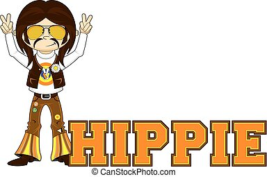 Cartoon Hippie