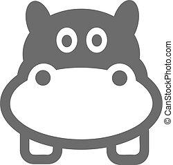 Cartoon Hippo Head