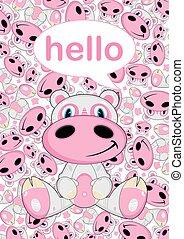 Cartoon Hippo Pattern
