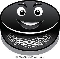 Cartoon hockey puck