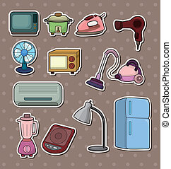 cartoon home Appliance stickers