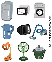 cartoon Home Appliances icon - cartoon Home Appliances icon...