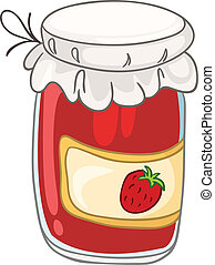 Cartoon Home Kitchen Jar Isolated on White Background....
