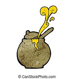 cartoon honey pot