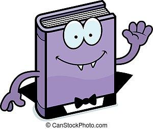 Cartoon Horror Novel Waving