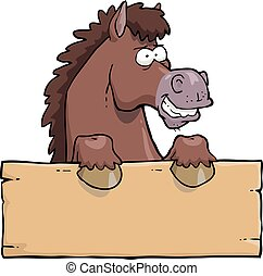 Cartoon horse head